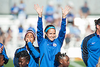 Kansas City, MO - Sunday September 11, 2016: Shea Groom prior to a regular season National Women's Soccer League (NWSL) match between FC Kansas City and the Chicago Red Stars at Swope Soccer Village.