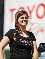 May 21, 2017; Topeka, KS, USA; NHRA top alcohol dragster driver Rachel Meyer during the Heartland Nationals at Heartland Park Topeka. Mandatory Credit: Mark J. Rebilas-USA TODAY Sports