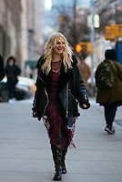 Zanna Roberts Rassi attends Day 4 of New York Fashion Week on Feb 15, 2015 (Photo by Hunter Abrams/Guest of a Guest)