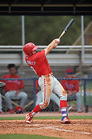 GCL Phillies West Keaton Greenwalt (16) bats during a Gulf Coast League game against the GCL Yankees East on July 26, 2019 at the New York Yankees Minor League Complex in Tampa, Florida.  (Mike Janes/Four Seam Images)