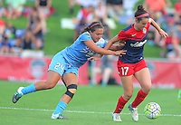 Boyds, MD - Saturday July 09, 2016: Danielle Colaprico, Cali Farquharson during a regular season National Women's Soccer League (NWSL) match between the Washington Spirit and the Chicago Red Stars at Maureen Hendricks Field, Maryland SoccerPlex.