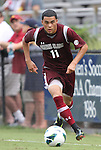 02 September 2012: Santa Clara's Carlos Montes. The North Carolina State University Wolfpack defeated the Santa Clara University Broncos 2-1 at Koskinen Stadium in Durham, North Carolina in a 2012 NCAA Division I Men's Soccer game.