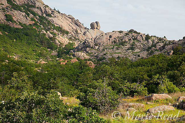 Rocky outcrops near Charon's Garden Wilderness, Wichita Mountains National Wildlife Refuge, Oklahoma, USA