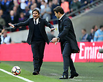 Chelsea's Antonio Conte looks on during the FA Cup Semi Final match at Wembley Stadium, London. Picture date: April 22nd, 2017. Pic credit should read: David Klein/Sportimage