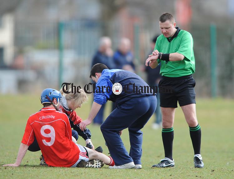 referee Rory Hickey.