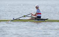 Brandenburg. GERMANY.<br /> GER LW1X. Anja NOSKE. 2016 European Rowing Championships at the Regattastrecke Beetzsee<br /> <br /> Friday  06/05/2016<br /> <br /> [Mandatory Credit; Peter SPURRIER/Intersport-images]