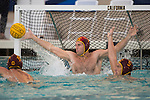 BERKELEY, CA - DECEMBER 04:  Baron McQuinn (1) of the University of Southern California makes a save during the Division I Men's Water Polo Championship held at the Spieker Aquatics Complex on December 04, 2016 in Berkeley, California.  Cal defeated USC 11-8 for the national title. (Photo by Justin Tafoya/NCAA Photos via Getty Images)