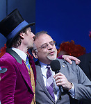 Christian Borle and Marc Shaiman during the Broadway Opening Performance Curtain Call of 'Charlie and the Chocolate Factory' at the Lunt-Fontanne Theatre on April 23, 2017 in New York City.