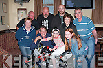 WINNER: Pat Phelan, from Clanmaurice Ave, Limerick, with his daughter Caoimhe on the Mini Dirt Bike which he won as first prize in a draw held by Duagh Poker Group in aid of Our Ladys Hospital for sick Children in Dublin. Also in the picture are front right Jessica Heffernan, back from left, Brenda Heffernan, Martin Sheehy, Johnny Nash, Francis and Betty Gaire, Ger O Connor. .