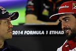 Sebastian Vettel (GER), Red Bull Racing - Fernando Alonso (ESP),  Scuderia Ferrari <br />  Foto &copy; nph / Mathis
