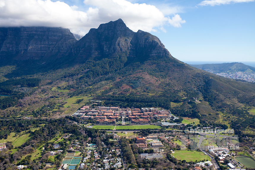 Cape Town University Aerial view. South Africa.