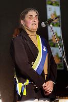 Mona Bras, conseillere regionale UDB, lors de son discourt