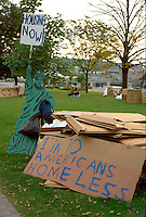 Homeless demonstration downtown; a call to action.  St Paul Minnesota USA