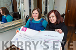 Mary Claire McCarthy Currow with her hairdresser Deirdre Lyne from Halo hairdressers raised €1000 for the Rapunzel charity by cutting her long hair