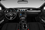 Stock photo of straight dashboard view of a 2018 Ford Mustang GT 2 Door Coupe