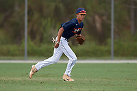 Andruw Jones (25) during the WWBA World Championship at the Roger Dean Complex on October 12, 2019 in Jupiter, Florida.  Andruw Jones attends Wesleyan High School in Suwanee, GA and is committed to Vanderbilt.  (Mike Janes/Four Seam Images)