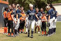 SAN ANTONIO, TX - APRIL 23, 2011: The Nicholls State University Colonels vs. the University of Texas at San Antonio Roadrunners Softball at Roadrunner Field. (Photo by Jeff Huehn)