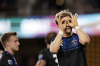 SAN JOSE, CA - SEPTEMBER 25: Florian Jungwirth #23 of the San Jose Earthquakes celebrates during a Major League Soccer (MLS) match between the San Jose Earthquakes and the Philadelphia Union on September 25, 2019 at Avaya Stadium in San Jose, California.