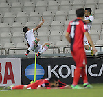 Syria vs IR Iran during the AFC U-22 Mens Championship Qatar 2016 Group A match on January 12, 2016 at the Jassim Bin Hamad Stadium in Doha, Qatar. Photo by Nadim Aljabi / Power Sport Images