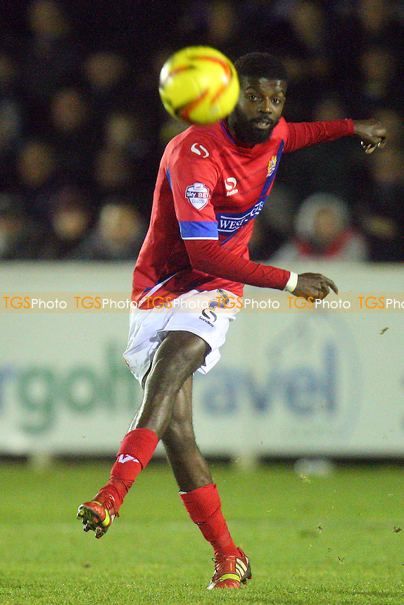 Medy Elito of Dagenham and Redbridge -  AFC Wimbledon vs Dagenham and Redbridge - Sky Bet League Two football at the Kingsmeadow Stadium - MANDATORY CREDIT: Dave Simpson/TGSPHOTO - Self billing applies where appropriate - 0845 094 6026 - contact@tgsphoto.co.uk - NO UNPAID USE