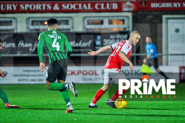 Fleetwood Town's forward Paddy Madden (17) during the Sky Bet League 1 match between Fleetwood Town and Coventry City at Highbury Stadium, Fleetwood, England on 27 November 2018. Photo by Stephen Buckley / PRiME Media Images.