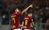 Football, Serie A: AS Roma - Parma, Olympic stadium, Rome, May 26, 2019. <br /> Roma's Lorenzo Pellegrini (l) celebrates after scoring during the Italian Serie A football match between Roma and Parma at Olympic stadium in Rome, on May 26, 2019.<br /> UPDATE IMAGES PRESS/Isabella Bonotto