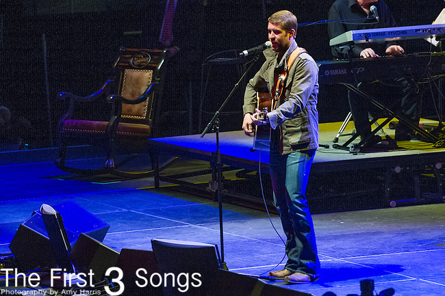 "Josh Turner performs at the George Jones Tribute Concert ""Playin' Possum: The Final No Show"" at Bridgestone Arena in Nashville, TN"