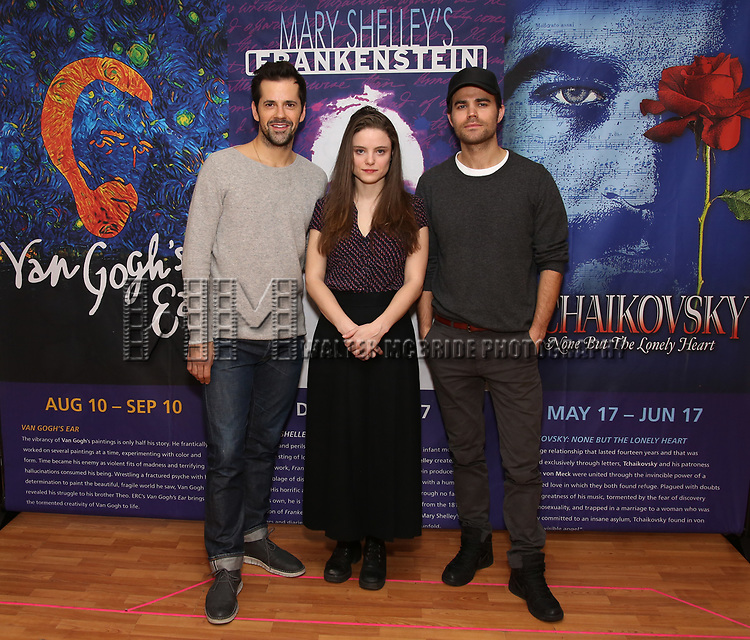 Robert Fairchild, Mia Vallet and Paul Wesley attends the Meet & Greet the cast of 'Mary Shelley's Frankenstein' at the Shelter Studios on December 14, 2017 in New York City.