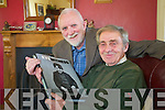"Padraig Kennelly with Mikey O'Shea, Cahirdown, Listowel who in pictured as a young boy on the cover ""Eyewitness"" a the book of photographs  from the 1953 to 1973 by Padraig and Joan Kennelly."