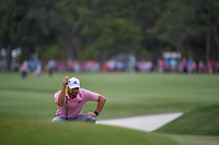 Sergio Garcia (ESP) lines up his putt on 9 during round 4 of The Players Championship, TPC Sawgrass, at Ponte Vedra, Florida, USA. 5/13/2018.<br /> Picture: Golffile | Ken Murray<br /> <br /> <br /> All photo usage must carry mandatory copyright credit (&copy; Golffile | Ken Murray)