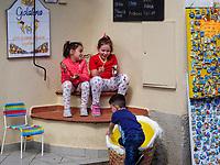 Eisdiele, Centro Storico, Porto Azzurro, Elba, Region Toskana, Provinz Livorno, Italien, Europa<br /> ice cream parlour, Centro Storico, Porto Azzurro, Elba, Region Tuscany, Province Livorno, Italy, Europe
