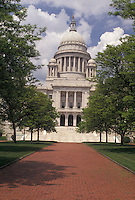 AJ4419, Providence, State House, State Capitol, Rhode Island, The State House in the capital city of Providence in the state of Rhode Island.