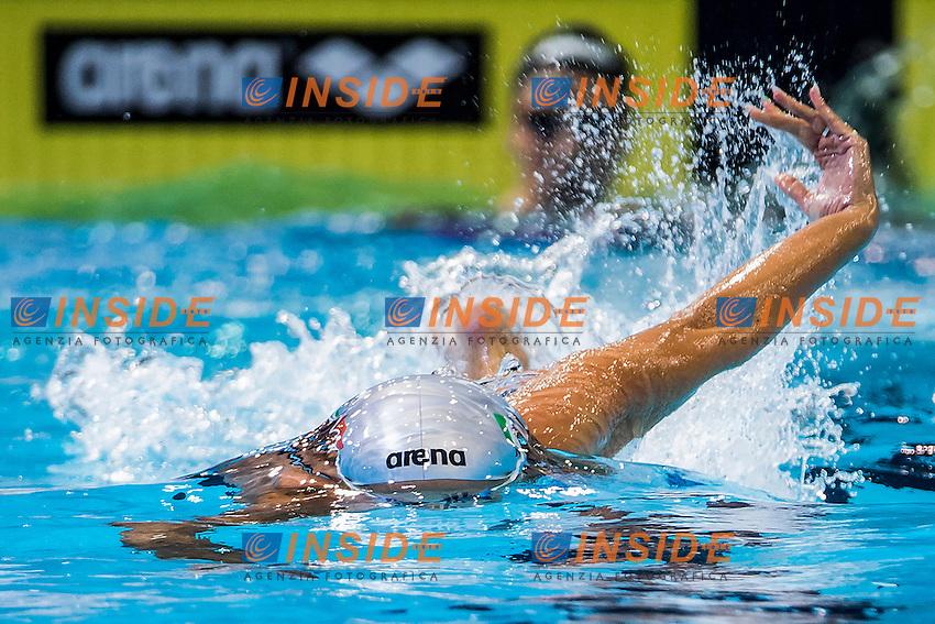 Federica Pellegrini Italy ITA<br /> 4X200 Freestyle Women Final Gold Medal<br /> 32nd LEN European Championships <br /> Berlin, Germany 2014  Aug.13 th - Aug. 24 th<br /> Day09 - Aug. 21<br /> Photo A.Masini/Deepbluemedia/Inside