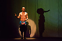 Edinburgh, UK. 09.08.2014.  GANESH VERSUS THE THIRD REICH, presented by Australian company, Back to Back Theatre, opens at the Royal Lyceum Theatre, as part of the Edinburgh International Festival. Picture shows:  David Woods. Photograph © Jane Hobson.