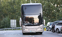 The Swansea City team bus arrives at Madejski Stadium prior to kick off of  the Carabao Cup Third Round match between Reading and Swansea City at Madejski Stadium, Reading, England, UK. Tuesday 19 September 2017