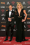 Bibi Andersen and Manuel Bandera attend 30th Goya Awards red carpet in Madrid, Spain. February 06, 2016. (ALTERPHOTOS/Victor Blanco)