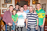 RACE NIGHT: Enjoying a great time at the John Mitchels race night at the clubhouse, Boherbue, Tralee on Saturday l-r: Wayne Conway, Brooklyn Conway, Brendan O'Mahony, Sean Molony, Eoin Kelliher, Clive O'Callaghan and Peter Nammock.