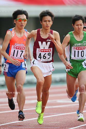 Suguru Osako (JPN), <br /> JUNE 8, 2013 - Athletics : <br /> The 97th Japan Track &amp; Field National Championships <br /> Men's 10000m Final <br /> at Ajinomoto Stadium, Tokyo, Japan. <br /> (Photo by YUTAKA/AFLO SPORT)