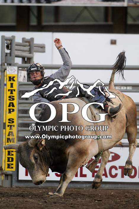 20 Aug 2014:  Sage Steele Kimsey scored a 79 during the first round of competition in the Seminole Hard Rock Extreme Bulls competition at the Kitsap County Stampede in Bremerton, Washington.