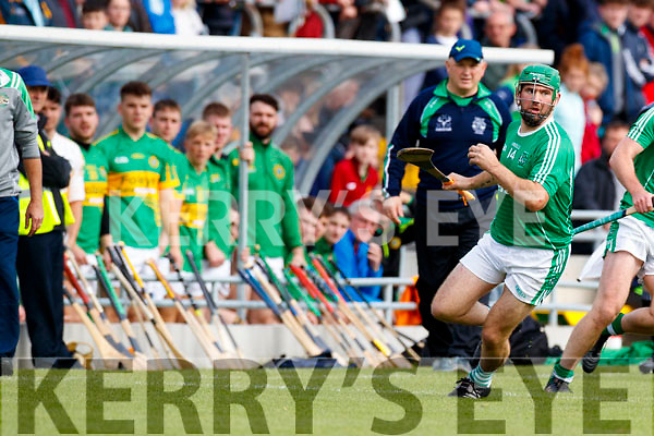 Mikey Boyle (Captain) Ballyduff in action against  Lixnaw in the Senior County Hurling Final in Austin Stack Park on Sunday