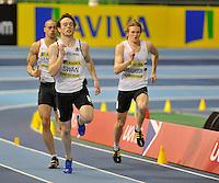 Photo: Paul Greenwood/Richard Lane Photography. Aviva World Trials & UK Championships. 14/02/2010. .Patrick Swan in the Mens 400m.