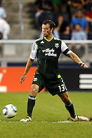 Jack Jewsbury (13) midfielder Portland Timbers in action... Sporting Kansas City defeated Portland Timbers 3-1 at LIVESTRONG Sporting Park, Kansas City, Kansas.