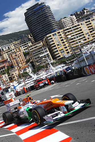 24.05.2012.Monte Carlo, Monaco.  German Formula One driver Nico Huelkenberg of Force India drives his car through the harbour chicane during the first practice session at the F1 race track of Monte Carlo, 24 May 2012. The Grand Prix will take place on 27 May.
