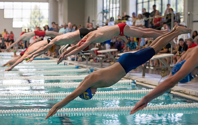The start of the boys 3A 200 yard IM race during the State Swimming Meet in Carson City on Saturday, May 20, 2017.