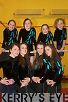 Gymnasts: Gymnasts from the Aerials Gymnastics Club in Listowel who are heading off to the National Finals in Dublin next month. Front: Aisling O'Carroll, Rebecca O'Rourke, Emma Sheehy and Elaine Bunyan. Back: Kayleigh Maxwell, Sinead O'Hanlon, Alana O'Connor and Cianna Guiney..