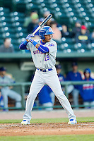 South Bend Cubs outfielder Eddy Martinez (15) at bat against the Great Lakes Loons on May 18, 2016 at Dow Diamond in Midland, Michigan. Great Lakes defeated South Bend 5-4. (Andrew Woolley/Four Seam Images)