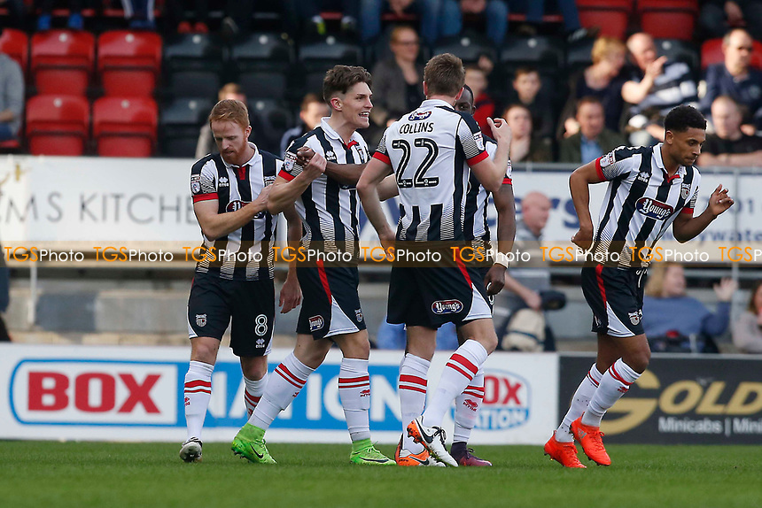 Grimsby's 1st goalscorer Sam Jones celebrates during Leyton Orient vs Grimsby Town, Sky Bet EFL League 2 Football at the Matchroom Stadium on 11th March 2017