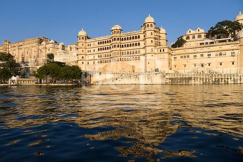 Udaipur,Rajasthan,  India. City Palace. Fateh Prakash Palace and hotel.