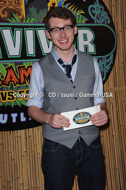 John Cochran  at the Survivor-  Caramoan finale at the CBS Radford studios in Los Angeles.