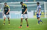 Solna 2014-03-31 Fotboll Allsvenskan AIK - IFK G&ouml;teborg :  <br /> AIK:s Robin Quaison deppar<br /> (Foto: Kenta J&ouml;nsson) Nyckelord:  AIK Gnaget Solna IFK G&ouml;teborg Bl&aring;vitt depp besviken besvikelse sorg ledsen deppig nedst&auml;md uppgiven sad disappointment disappointed dejected